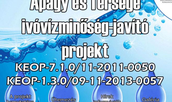 Apagy és térsége ivóvíz minőség-javító projekt