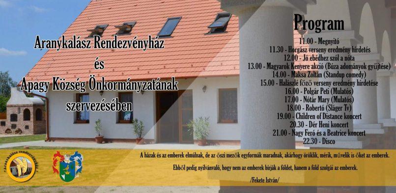 Tájékoztatás a III. Aranykalász fesztivállal kapcsolatosan
