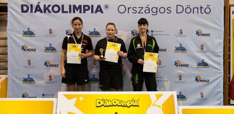Hanustyák Fanni Országos egyéni Diákolimpiai Bajnok a 2017/2018. tanévben!